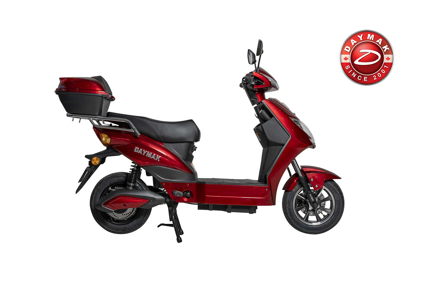 scooter electrique EM2 Daymak rouge-logo-daymak