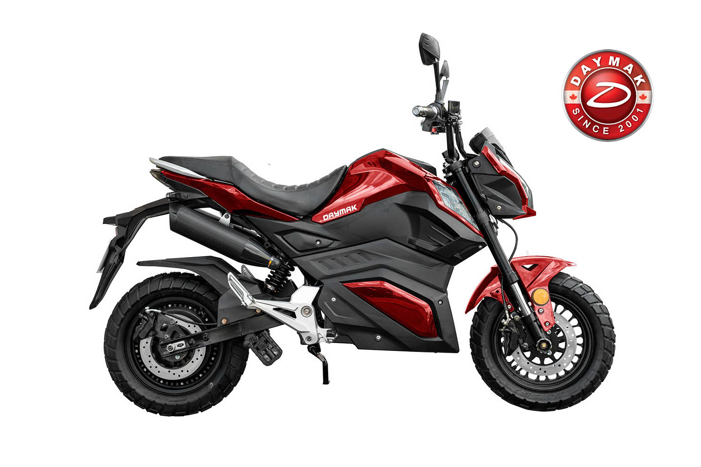scooter electrique ROAD WARRIOR Daymak rouge-logo-daymak