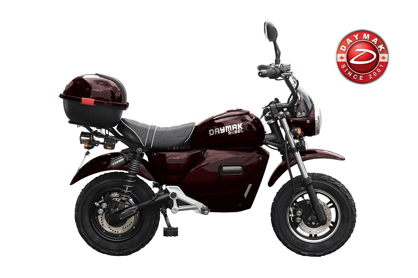scooter electrique rebel Daymak rouge-logo-daymak